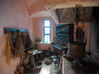 Old kitchen at Stolpen Castle
