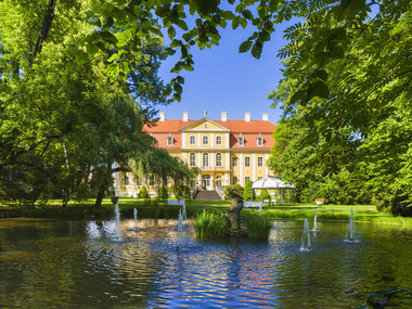 Castle pond in front of Rammenau Baroque Castle